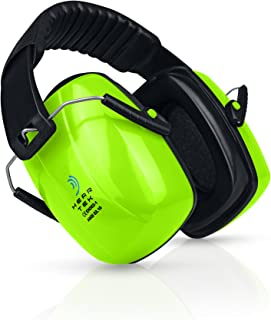 HEARTEK Safety Ear Muffs Adjustable Noise Canceling Ear Hearing Protection for Shooting Firing Range, Yard Work, Job Sites & More for Adults, Women & Kids - Includes Protective Travel Bag