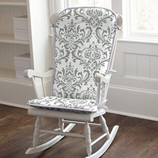 Carousel Designs Lilac and Gray Traditions Damask Rocking Chair Pad