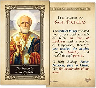 The Tropar to Saint Nicholas Laminated Prayer Card - Pack of 10