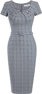 MUXXN Women's Pinup Style Short Sleeve Summer Sheath Formal Party Dress
