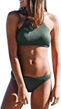 CUPSHE Women's Matcha Ice Cream Halter Bikini Set Tankini Swimwear