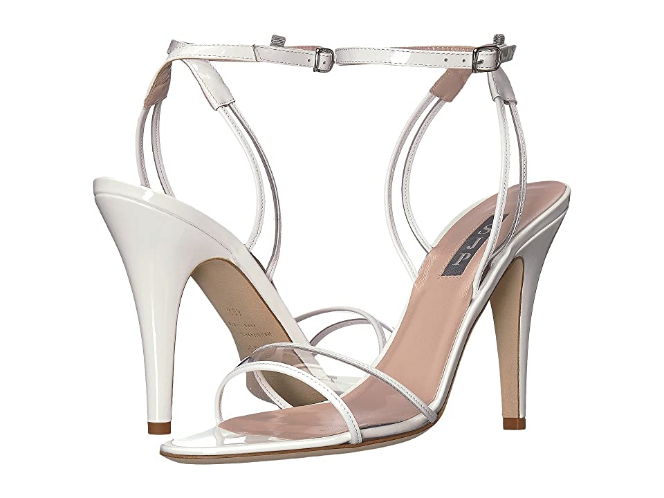 SJP by Sarah Jessica Parker Queen (White Patent) Women