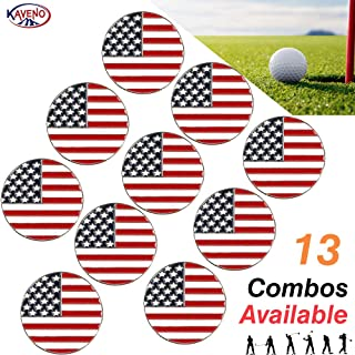 kaveno Golf Ball Marker, Golf Collection Series Assorted Design, Pack of 5/10/20