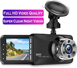 Dash Cam, Amuoc 1080P FHD DVR Car Driving Recorder 3 Inch LCD Screen 170� Wide Angle, G-Sensor, WDR, Parking Monitor, Loop Recording, Motion Detection
