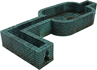 EnderToys Locking Dungeon Tiles - Secret Room, Terrain Scenery Tabletop 28mm Miniatures Role Playing Game, 3D Printed Paintable