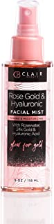 Rose Gold & Hyaluronic Acid Toning Facial Mist | W/Witch Hazel, 24K Gold and Collagen | Firms | Energizes | Moisturizes -5Oz