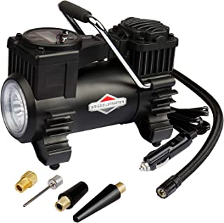 BriggsStratton Tire Inflator Portable Air Compressor Pump with Digital Pressure Gauge Auto Air Pump 120 PSI 12V DC with LE...