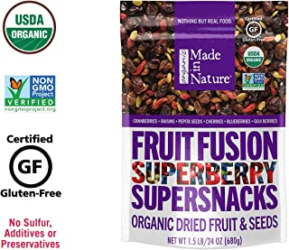 Made In Nature Organic Superberry Fruit Fusion Trail Mix, 24oz – Non-GMO Dried..