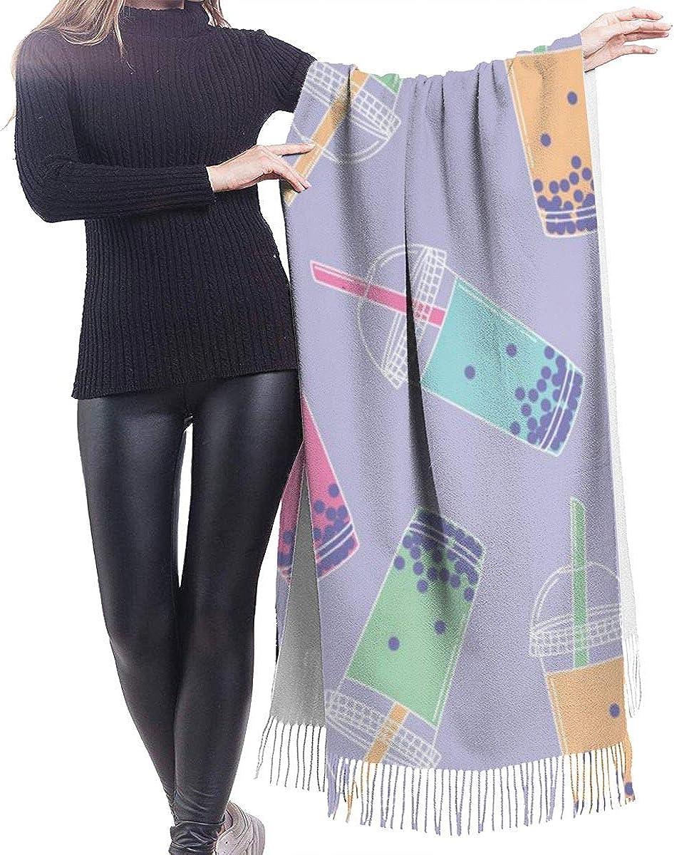 Bubble Tea Cashmere Shawl Wrap Scarf Large Warm Scarf For Women