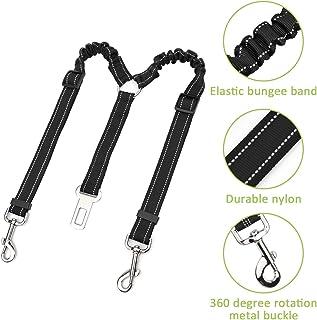 Lukovee - Cinturón de seguridad para perro, doble cinturón