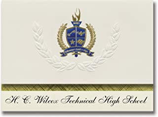 Signature Announcements H. C. Wilcox Technical High School (Meriden, CT) Graduation Announcements, Presidential Basic Pack...