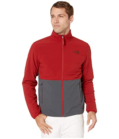 The North Face Mountain Sweatshirt Full Zip Jacket 3.0 (Cardinal Red/Asphalt Grey) Men