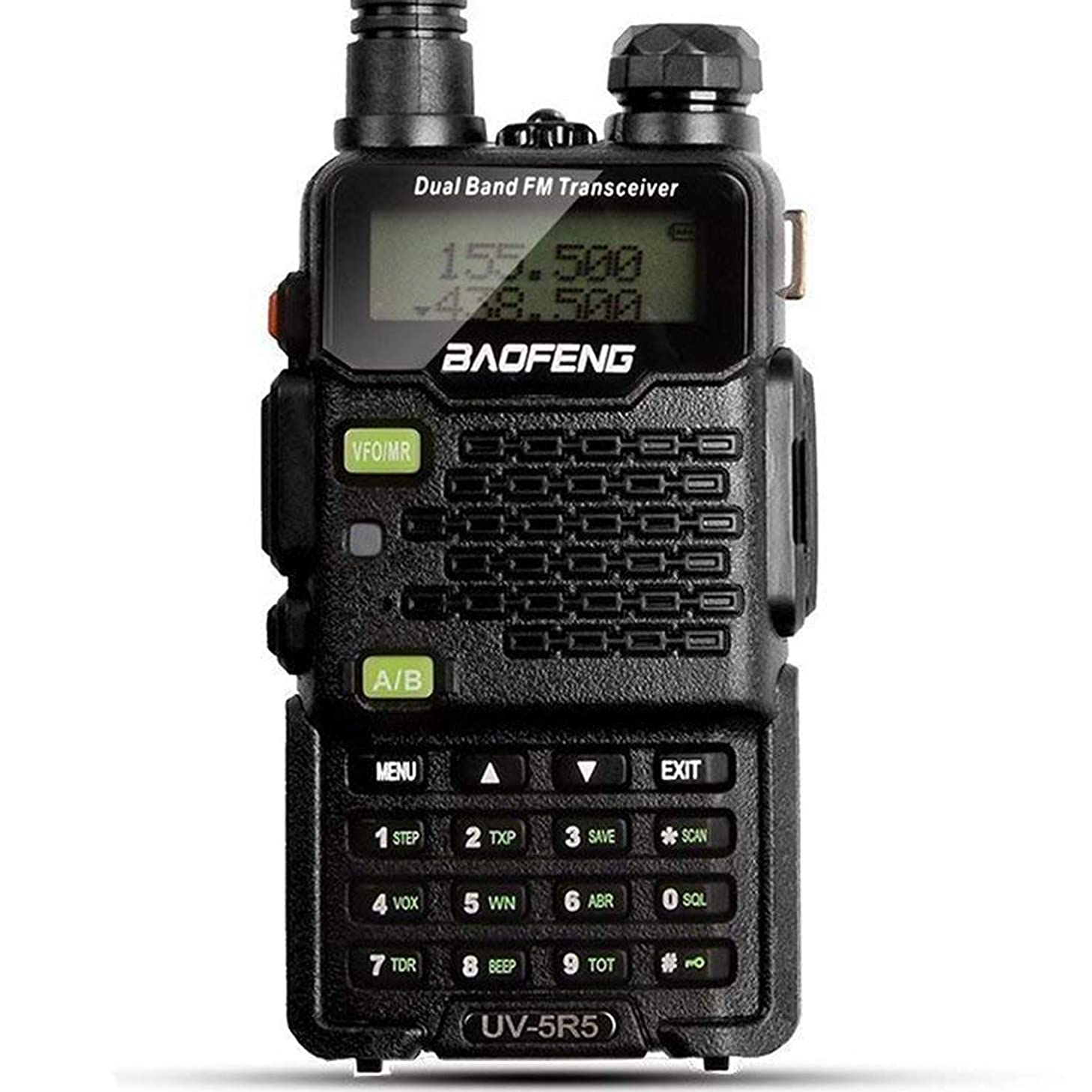 BaoFeng 2-Pack Upgrade UV-5R5 Two Way Radio, VHF UHF Dual-Band Walkie Talkie, Extended 7