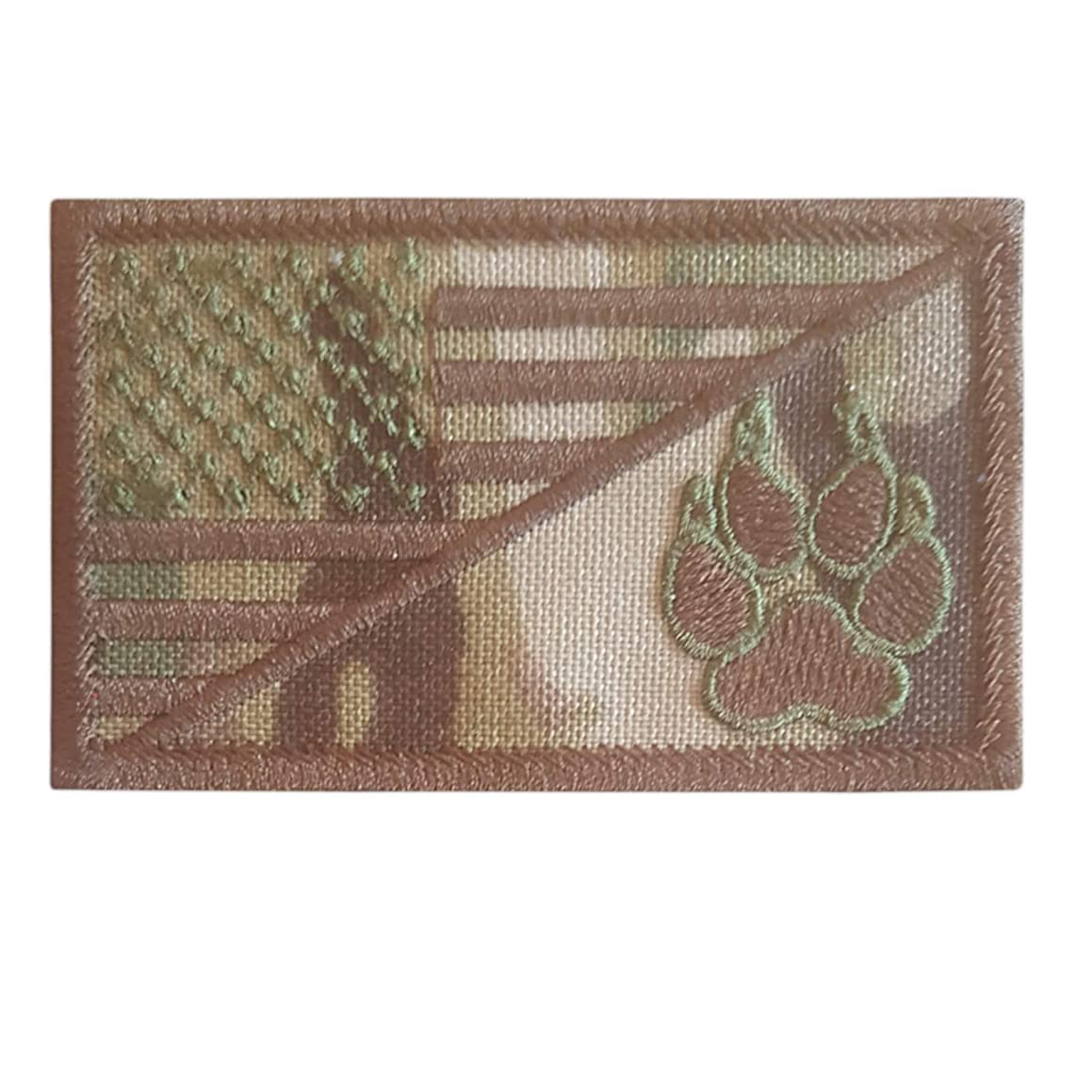LEGEEON Multicam USA American Flag K-9 Dog Handler Morale Tactical Embroidery Hook-and-Loop Patch