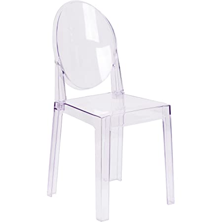 Flash Furniture 4 Pk Ghost Side Chair in Transparent Crystal