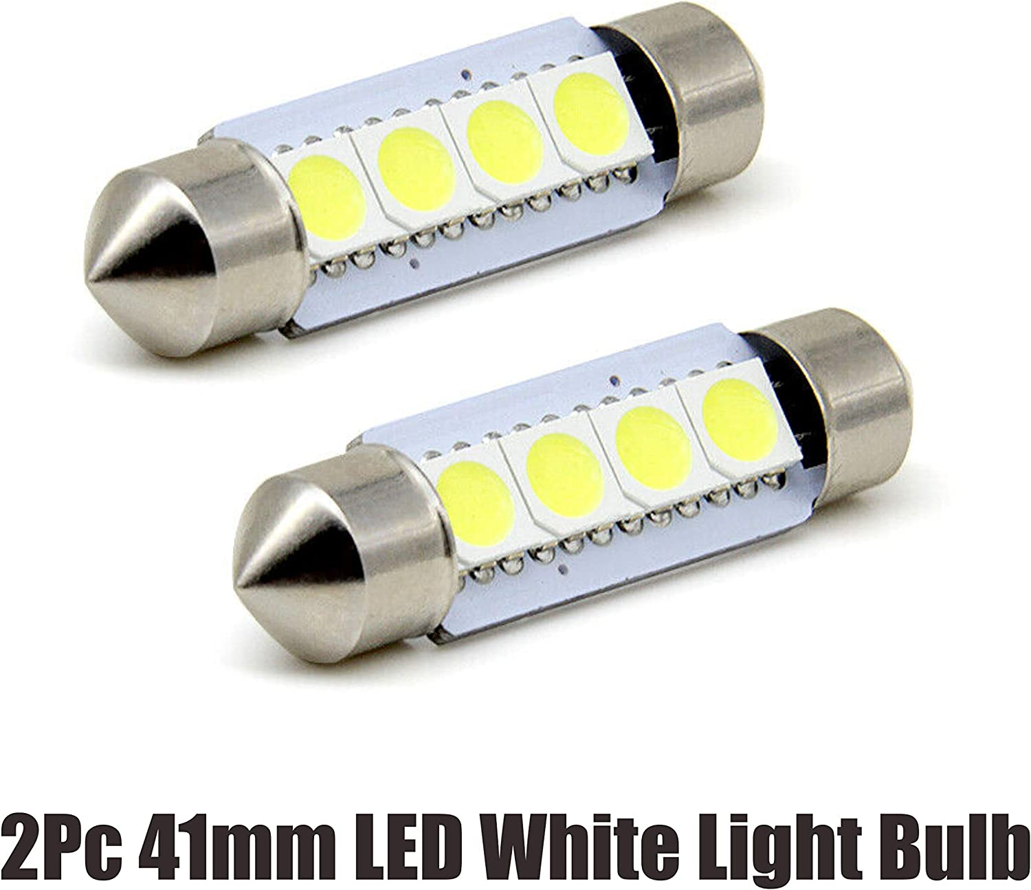2Pcs Super Genuine White 41mm 4SMD 5050 Indianapolis Mall Light Car LED for bulbs License