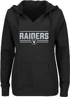 NFL Oakland Raiders Women FLEECE PULL OVER NOTCH HOOD, BLACK, 4X