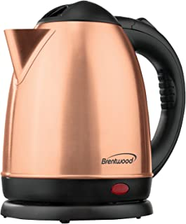 Brentwood KT-1780RG Cordless Electric Kettle Stainless Steel, 1.5L, Rose Gold