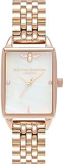 Olivia Burton Womens Quartz Watch, Analog Display and Stainless Steel Strap OB16BH01
