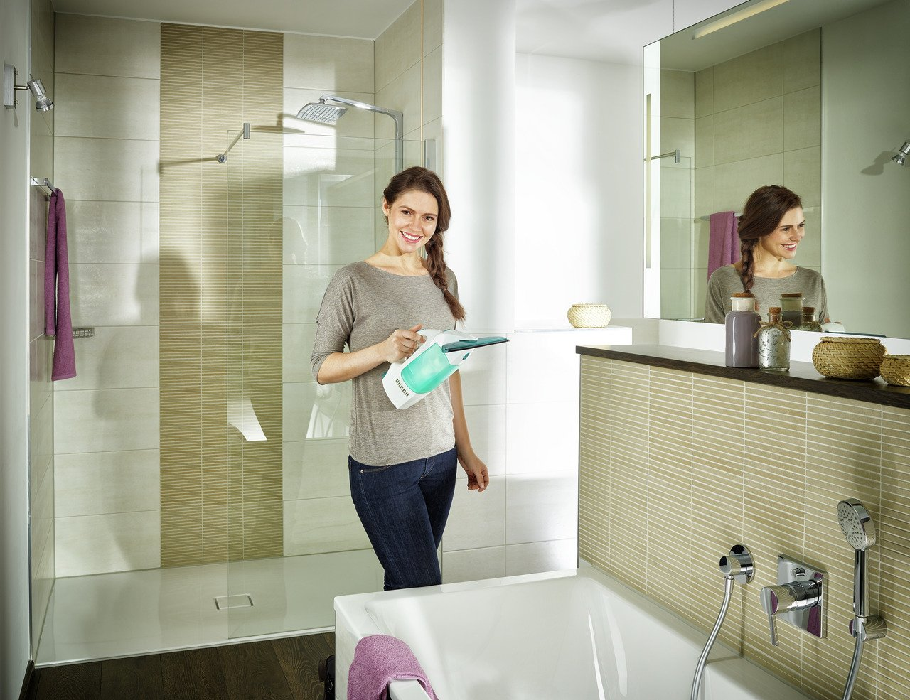 Leifheit Dry&Clean Aspirador Limpiacristales, Palo, Compuesto ...
