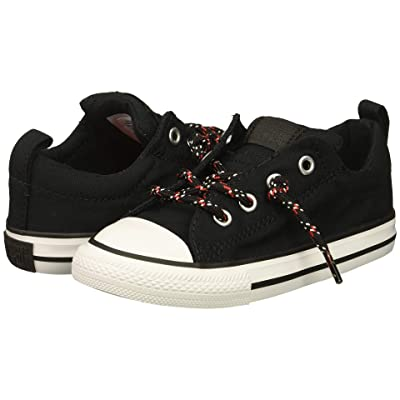 Converse Kids Chuck Taylor All Star Street Slip (Infant/Toddler) (Black/Enamel Red/White) Boys Shoes