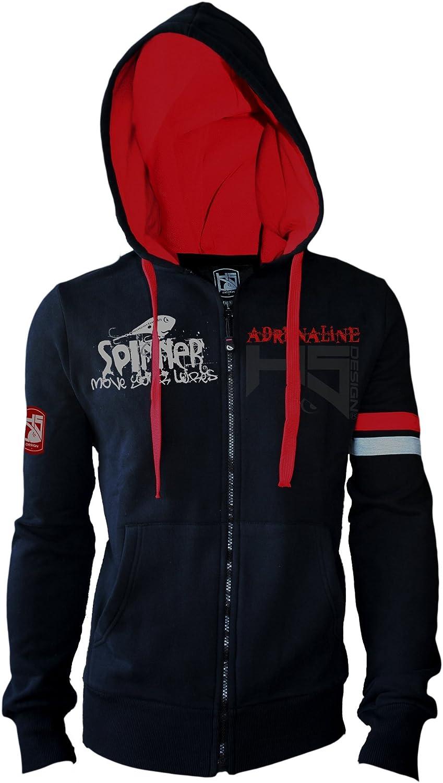 HOTSPOT DESIGN Kapuzensweater Spinning Adrenaline, Durchgehender Reiverschluss