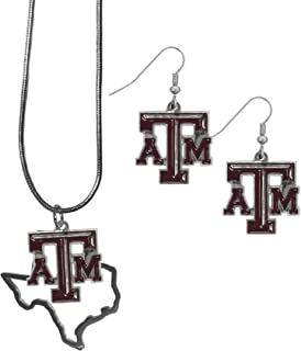 Siskiyou NCAA Womens Dangle Earrings and State Necklace Set