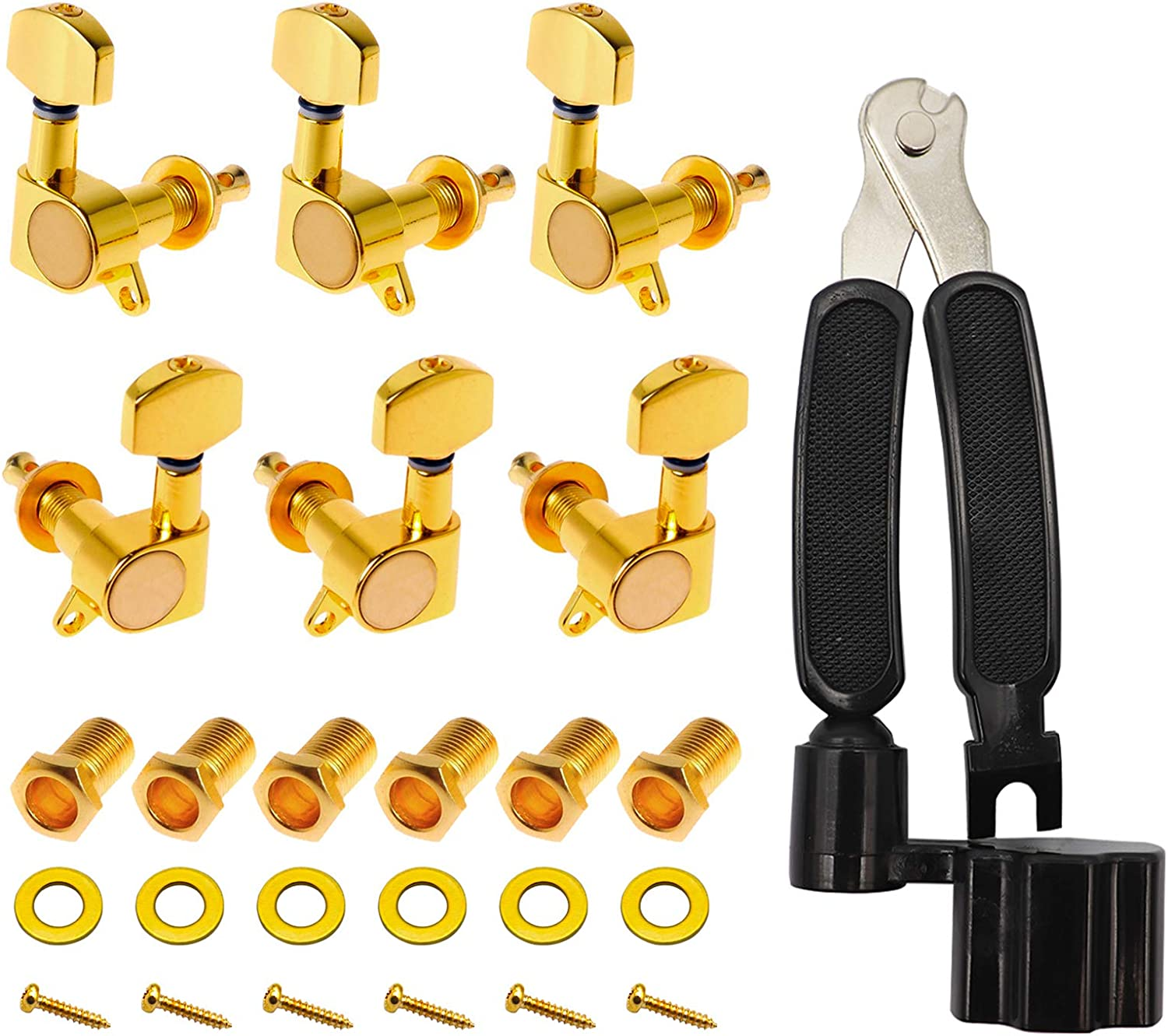 LITMIND 6 pcs Guitar Tuning Pegs Acoustic Store String Sealed Wholesale