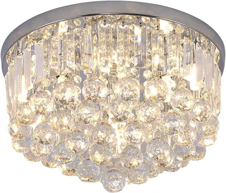 Gopmmy Washington Mall Modern K9 Crystal Raindrop Flush Lighting Mou It is very popular Chandelier