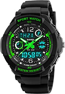 Hot! Boys Watches Waterproof Digital Dual Times Christmas Gifts for Kids boy Age 7-11