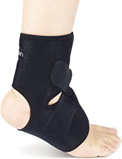 Ankle Brace & Achilles Tendon Support Sleeve | Adjustable One Size Fits All Ankle Support Wrap for Plantar & Achilles Supp...