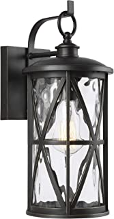 Feiss OL15201ANBZ Transitional One Light Outdoor Wall Lantern from Millbrooke Collection in Bronze/Dark Finish, 6.75 inches, Mount-16 H