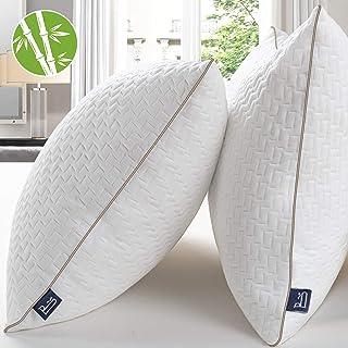 comprar comparacion BedStory Almohadas Bambú 42x70 Almohada 2 Pack con Funda de Lavable Almohada Antiácaros con 90% de 3D Fibra + 10% de 7D Fi...