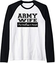 Army Wife - Ooo in Hooah (Black) Raglan Baseball Tee