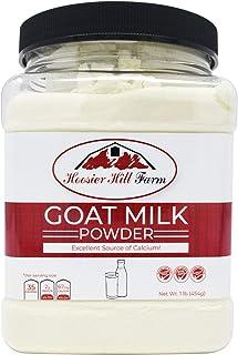 Hoosier Hill Farm Goat Milk Powder 1 lb. Jar, 100% Pure No Additives, Hormone and Antibiotic Free, Batch tested Gluten Fre...