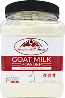 Hoosier Hill Farm Goat Milk Powder 1 lb. Jar, 100% Pure No Additives, Hormone and Antibiotic Free, Batch tested Gluten Free, and Non-GMO