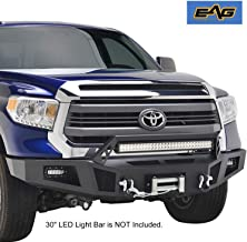 EAG Front Bumper with LED Light and Winch Plate