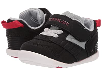 Tsukihoshi Kids Racer (Infant/Toddler) (Black/Red) Boys Shoes