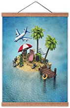 Hitecera Vacation Island Airplane,Vacations 24x35in(WxH)