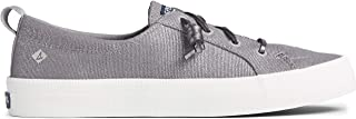Sperry womens Crest Vibe Sparkle Textile Sneaker, Silver, 5 US