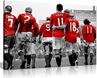 Manchester United Legends Football Canvas Wall Art Picture Print (30x20in)