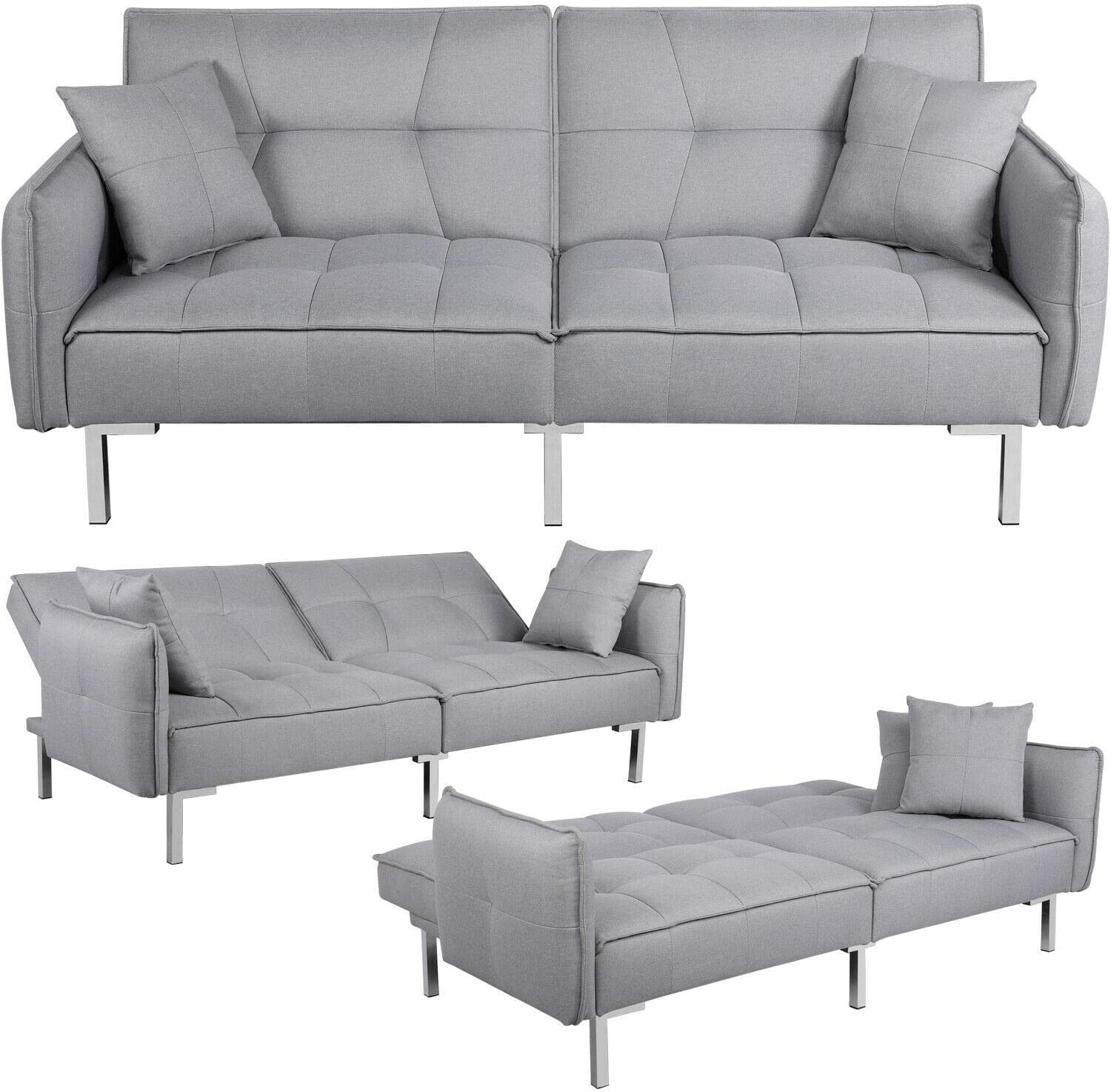 Award-winning store Gifts Convertible Sleeper Sofa Bed Couch Pull Daybed R Sofas Futon Out