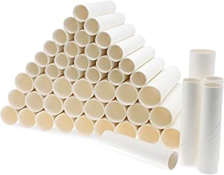 Bright Creations White Paper Cardboard Craft Tube Rolls (50 Pack)