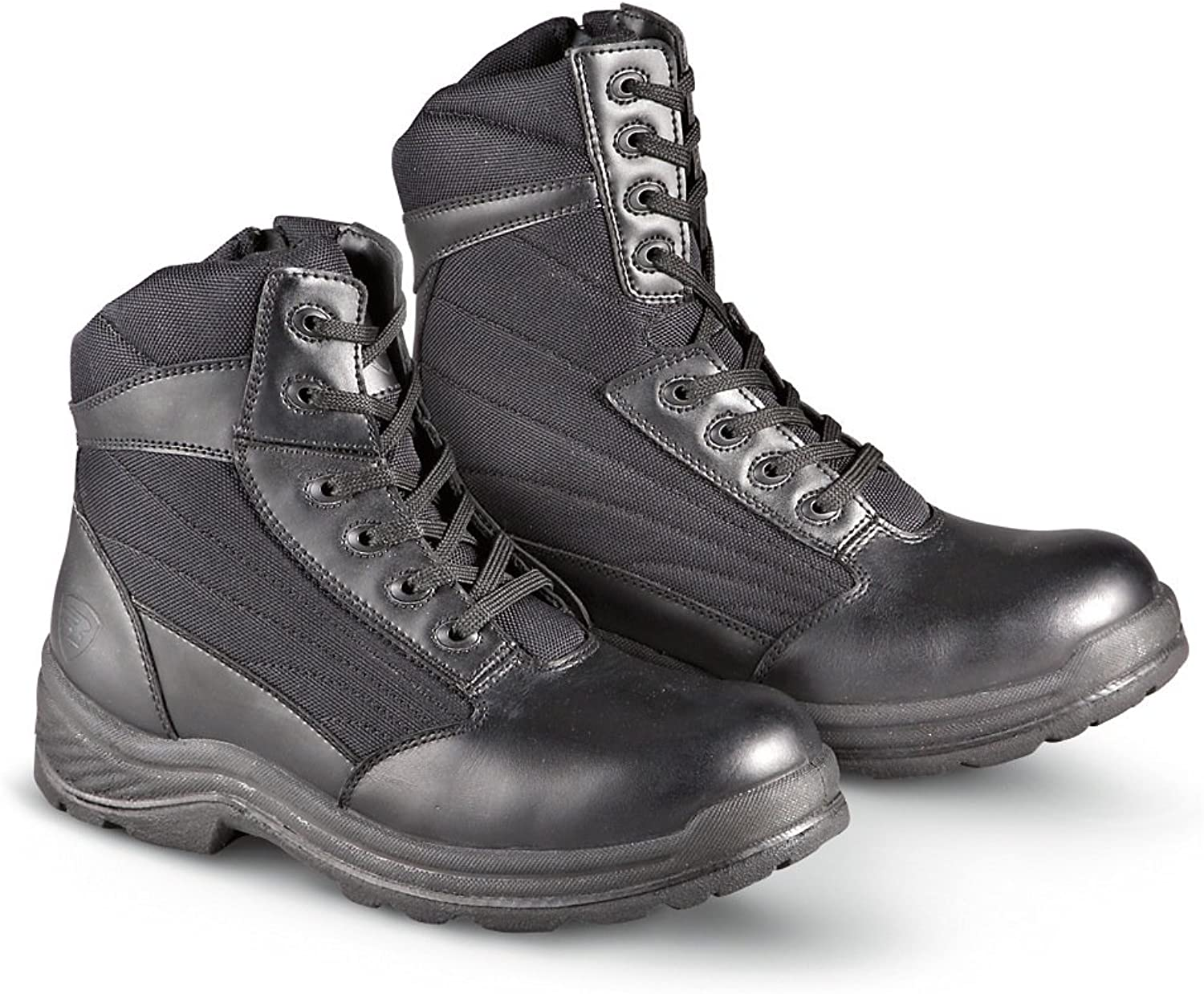 Men's 8  The Shield by Rucks Tactical Side - zip Boots Black, BLACK, 13M