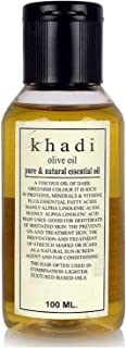 Khadi Khazana Extra Virgin Olive Oil, 100 ml Fully Ayurvedic Natural and Herbal