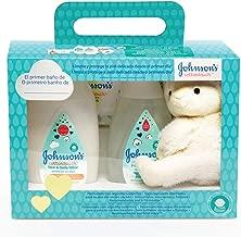 johnson's Baby Set Cotton Touch Gel De Baño 300 ml + Loción Corporal 300 ml + Toallitas 56 Unidades + Peluche Oveja