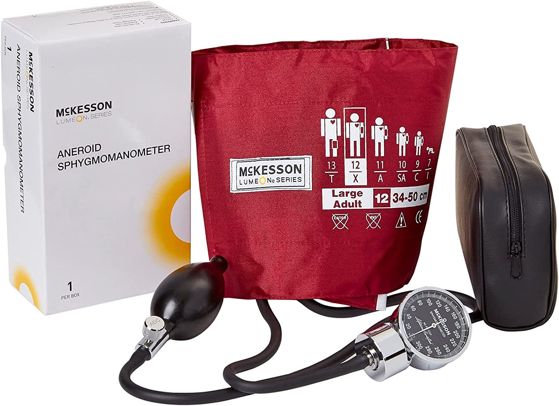 McKesson LUMEON Large overseas Cuff Arm Aneroid Cheap bargain Sphygmomanometer with Cuf