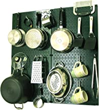 product image for Wall Control 30-KTH-200 GNW Kitchen Pegboard Organizer Pots and Pans Pegboard Pack Storage and Organization Kit with Green Pegboard and White Accessories