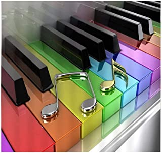 Music DIY 5D Diamond Paint by Number,Grand Piano Colorful Ke