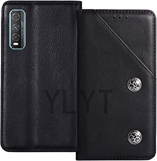 YLYT Business Shockproof - Black Flip Leather Retro Cover With Stand Wallet Case For Vivo Y70t 6.53 inch With Card Slots